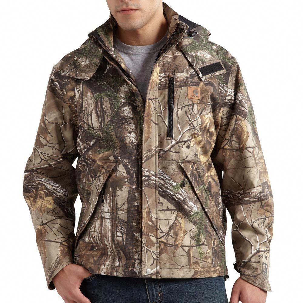 7da1d71ebc42b Awesome Carhartt Camo Rain Jacket! #deerhuntingjacket | hunting ...