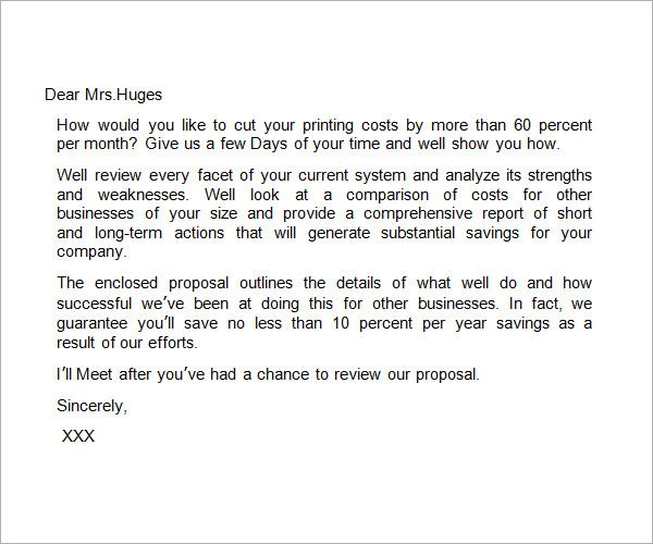 Business Proposal Letter Template  Useful Document Samples