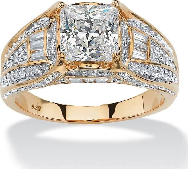 Mens Gold Diamond Ring Fake