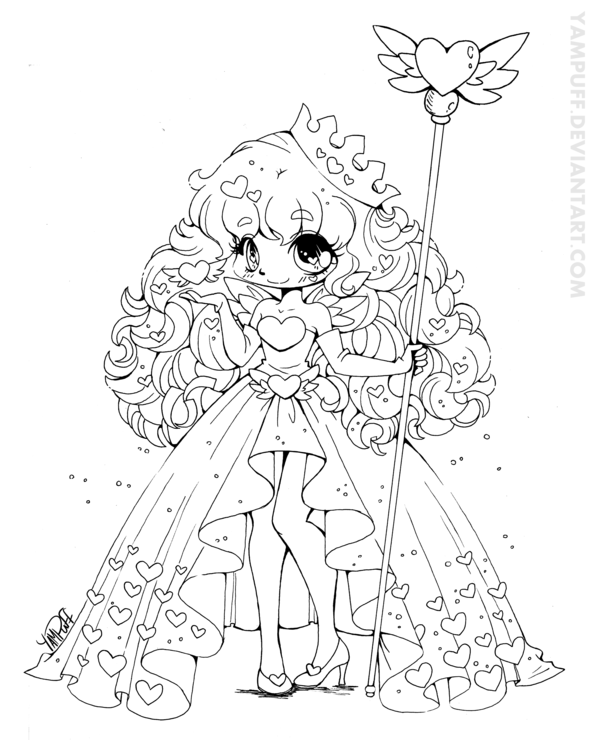 Queen of Hearts February Contest Lineart by YamPuff.deviantart.com ...