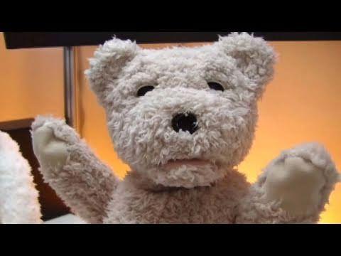 くしゃみもする子ぐま型ロボット Teddy bear robot