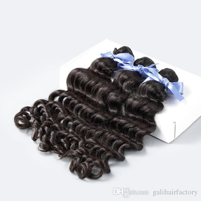7a Quality Deep Wave Unprocessed Malaysian Human Hair Weave Hair