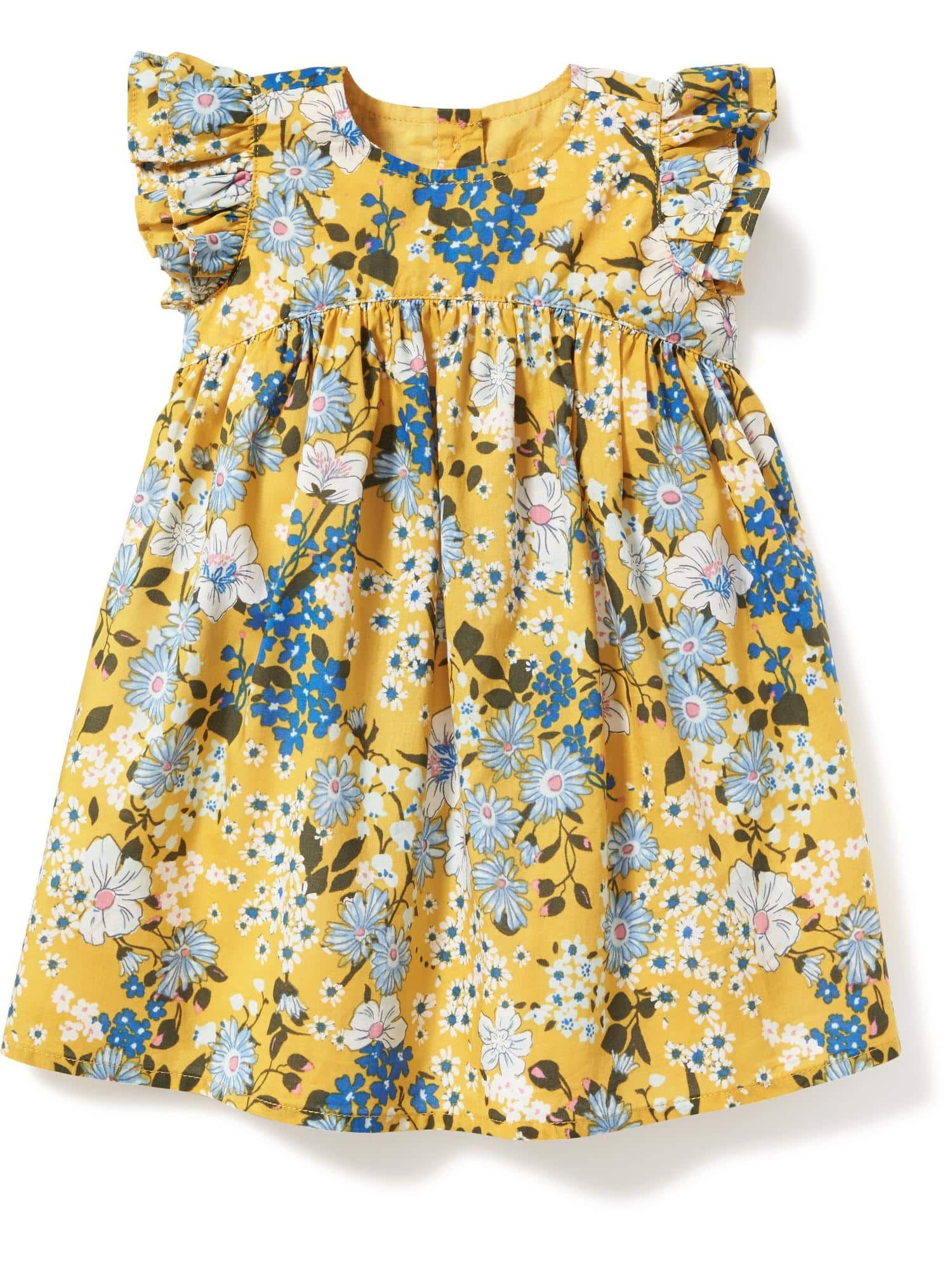 Floral Print Flutter Sleeve Dress for Baby MIA style