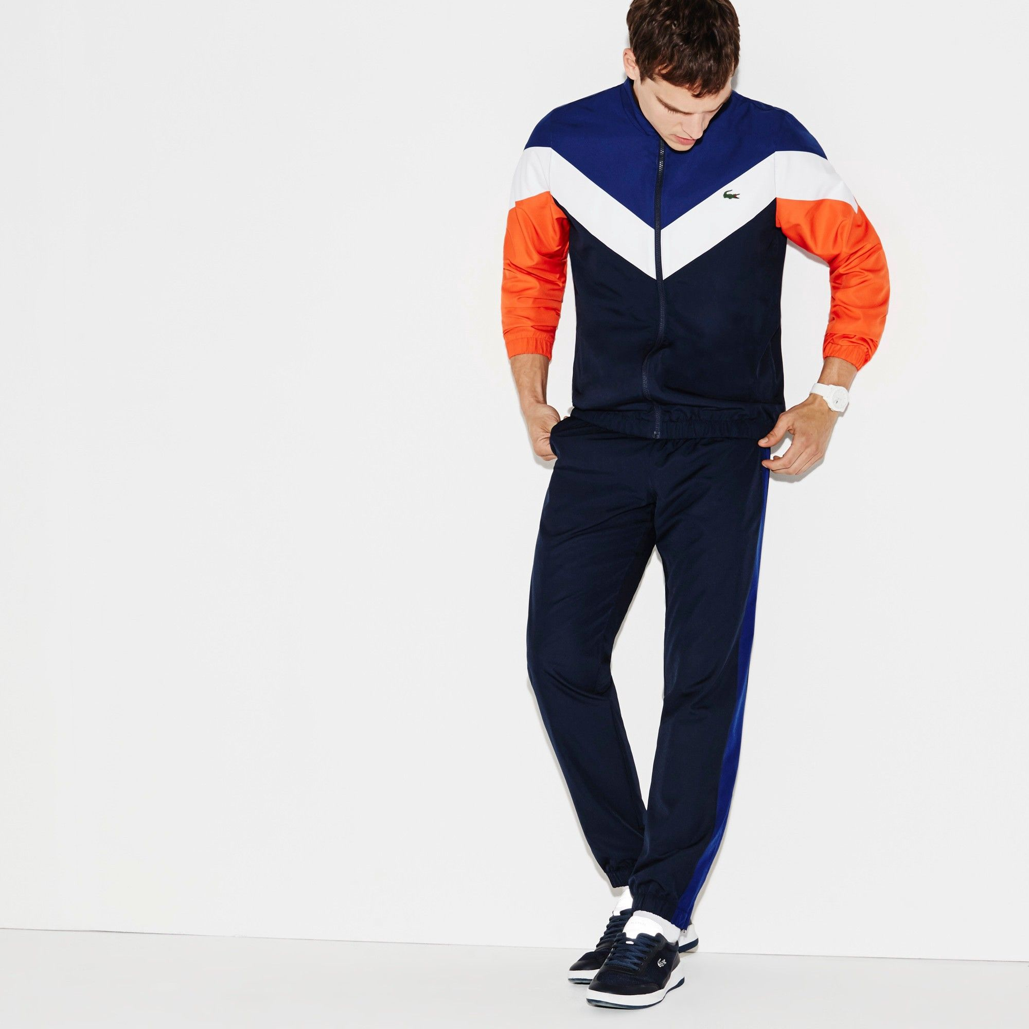 f3eaae4ffc LACOSTE Men's Lacoste SPORT Tennis Colorblock Tracksuit - navy blue ...