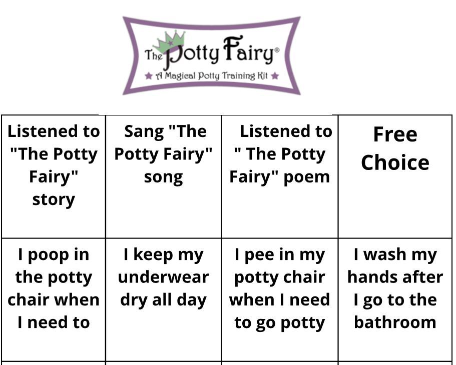 Free download  The Potty Fairy Reward Chart Potty Training - free reward charts to download