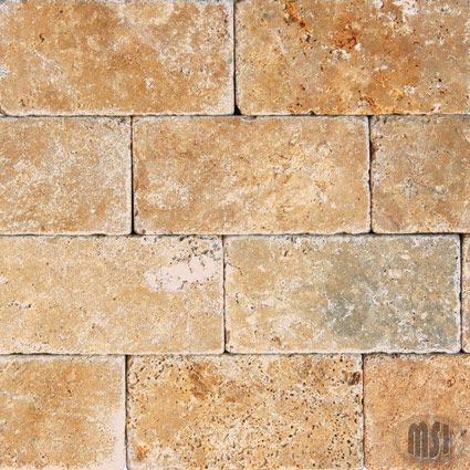 Vaneer pavers tuscano tuscany gold 3x6 tumbled tile item id vaneer pavers tuscano tuscany gold 3x6 tumbled tile item id ttgold36t collection tuscany tyukafo