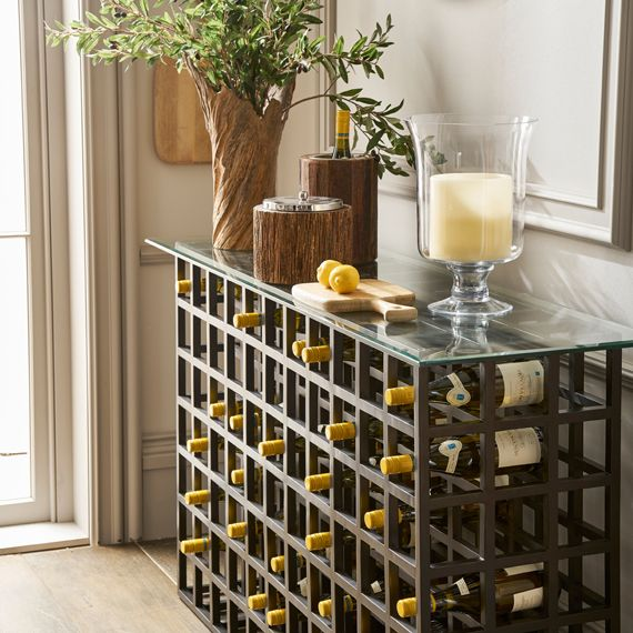 Cricova Wine Rack Console Table Black
