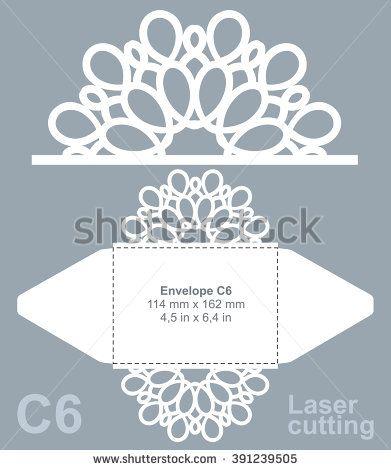 Printable laser cut wedding invitation template от LaserCutLace ...