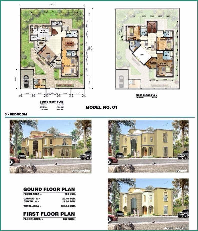 Saudi aramco villa plans 1 architecture layout plan by for Small villa design plan