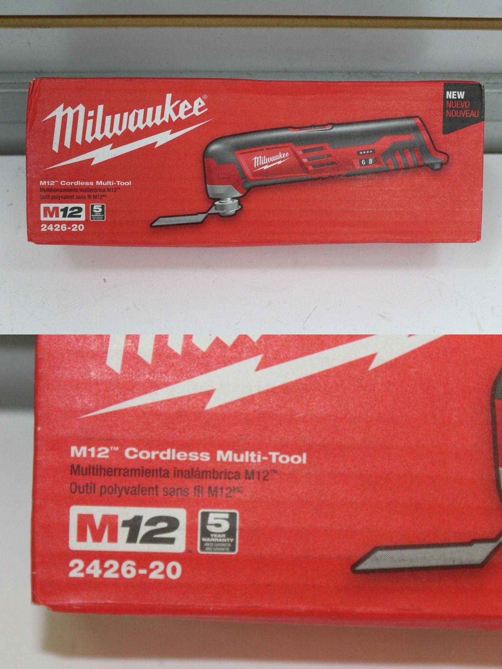 MILWAUKEE 2426-20 NEW 12V Li-Ion M12 Multi Oscillating Tool With Accessories