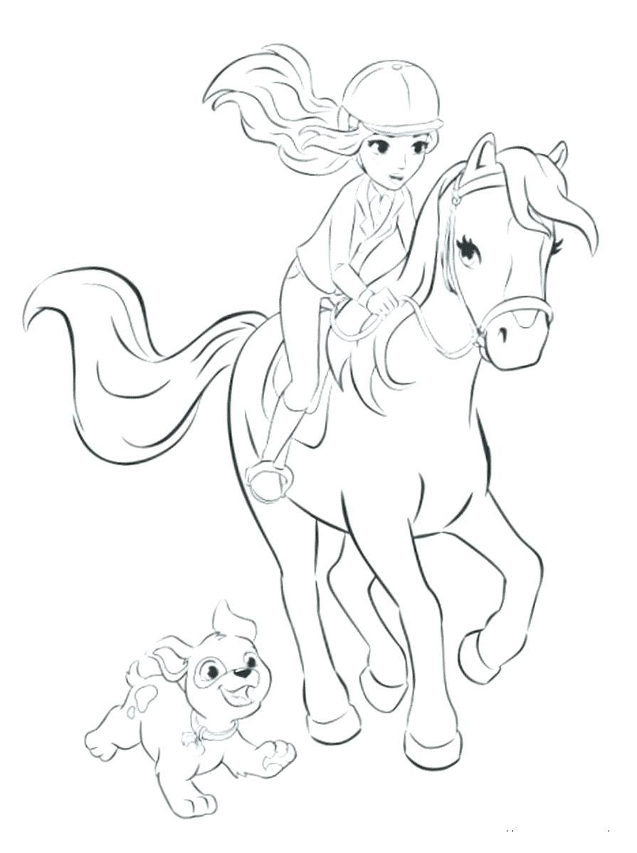 Coloring Pages Princess Horse