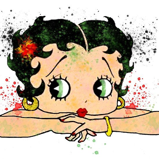 Betty Boop Watercolor Art Art, Watercolor Art, Betty Boop