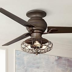 60 Casa Spyder Nostalgic Industrial Bronze Ceiling Fan Art Studio Bronze Ceiling Fan Ceiling Fan Ceiling Fan With Light