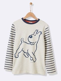 cc6bd2e48eb0 Tee-shirt marinière garçon Tintin® x Cyrillus | Look chouchou Garçon ...