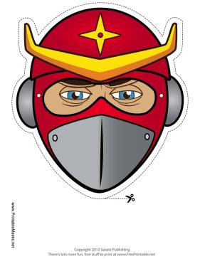 Printable Ninja Star Mask Mask