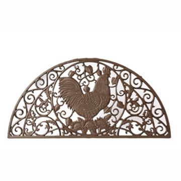 Large Cast Iron Doormat With Cockerel Design