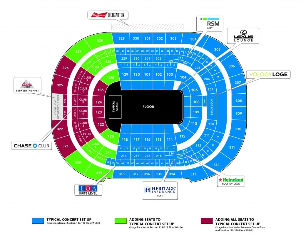 Amazing And Gorgeous Amalie Arena Concert Seating Chart 2020