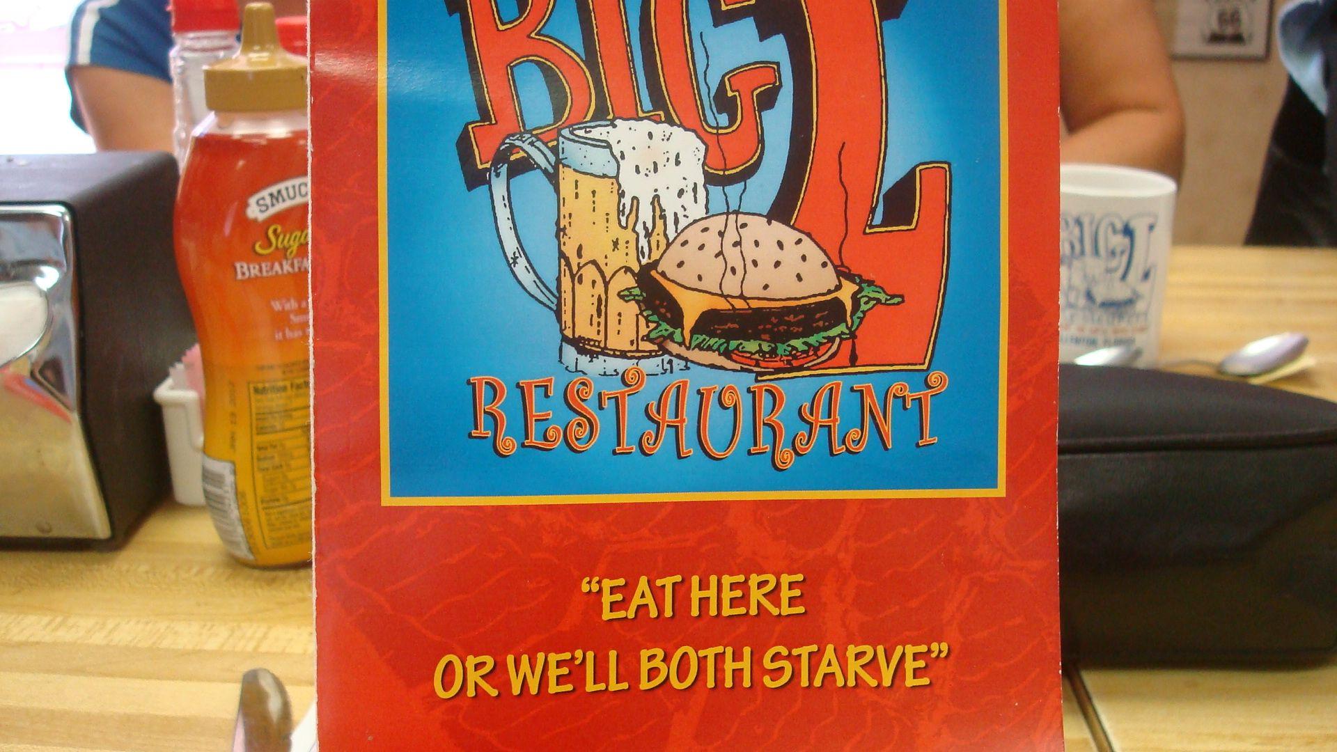 Ellenton FL Big Ls Restaurant Typical Diner Good Value - Florida map ellenton