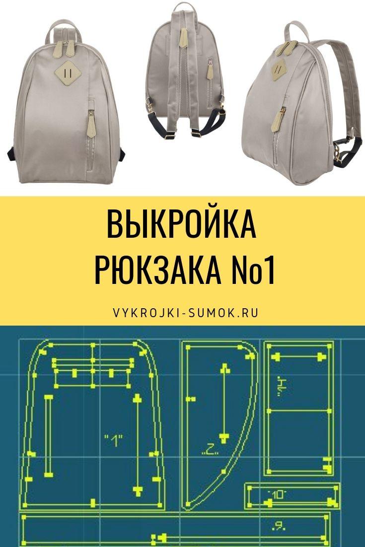 6f9d5537ddad Выкройка прогулочного городского рюкзака   сумки   Mochila de ...