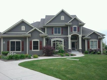 Commercial And House Painting Portoflio Grey Houses Red