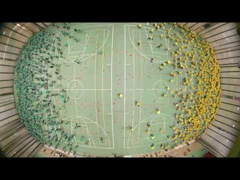 1200 students, staff, faculty at University of Alberta set Guinness World Records for largest dodgeball game