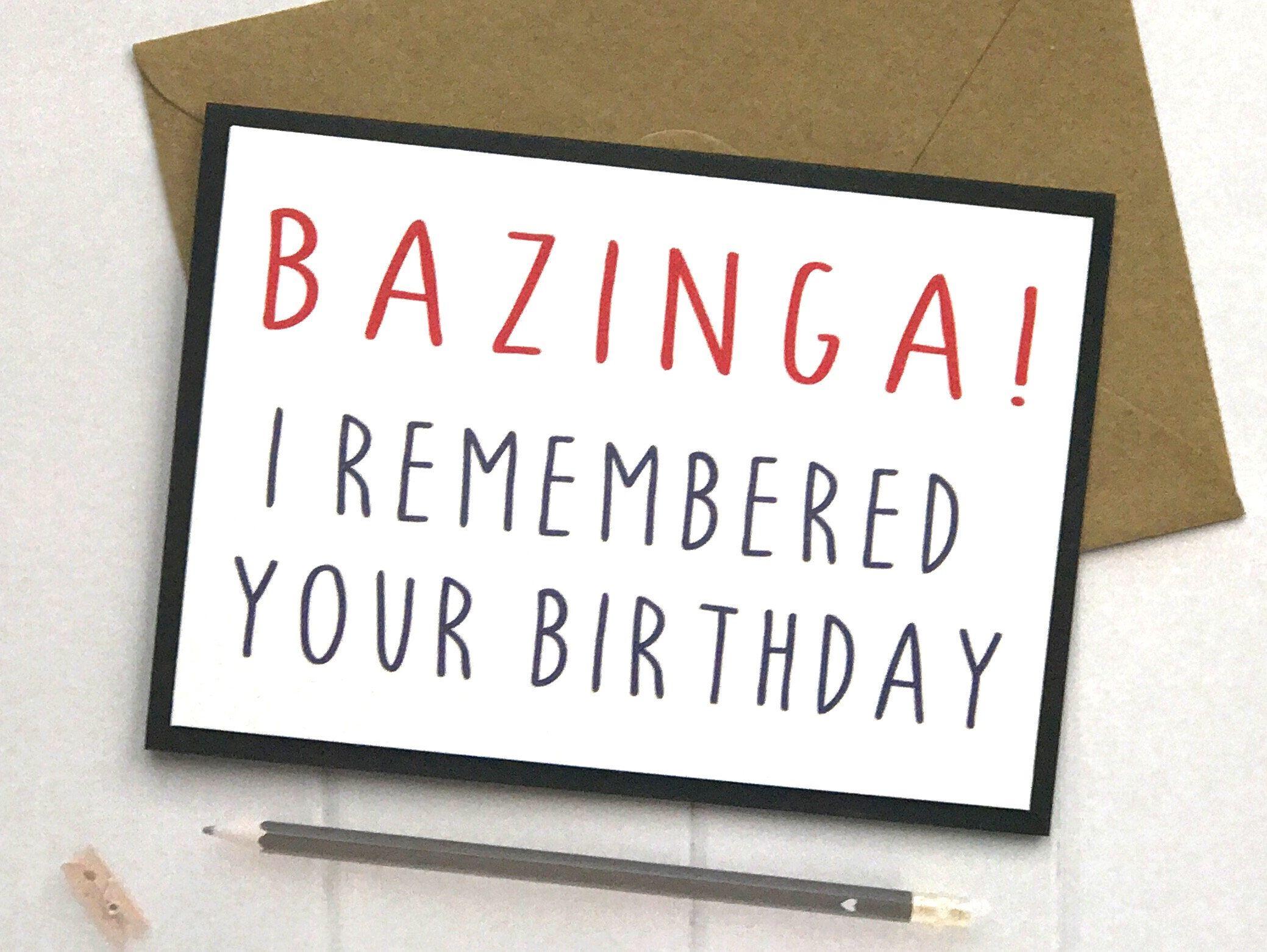 Big Bang Theory Birthday Card Big Bang Theory Big Bang Theory Card
