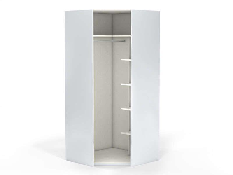 angle 1 porte 100 cm no limit coloris blanc vente de armoire conforama chambre armoire. Black Bedroom Furniture Sets. Home Design Ideas