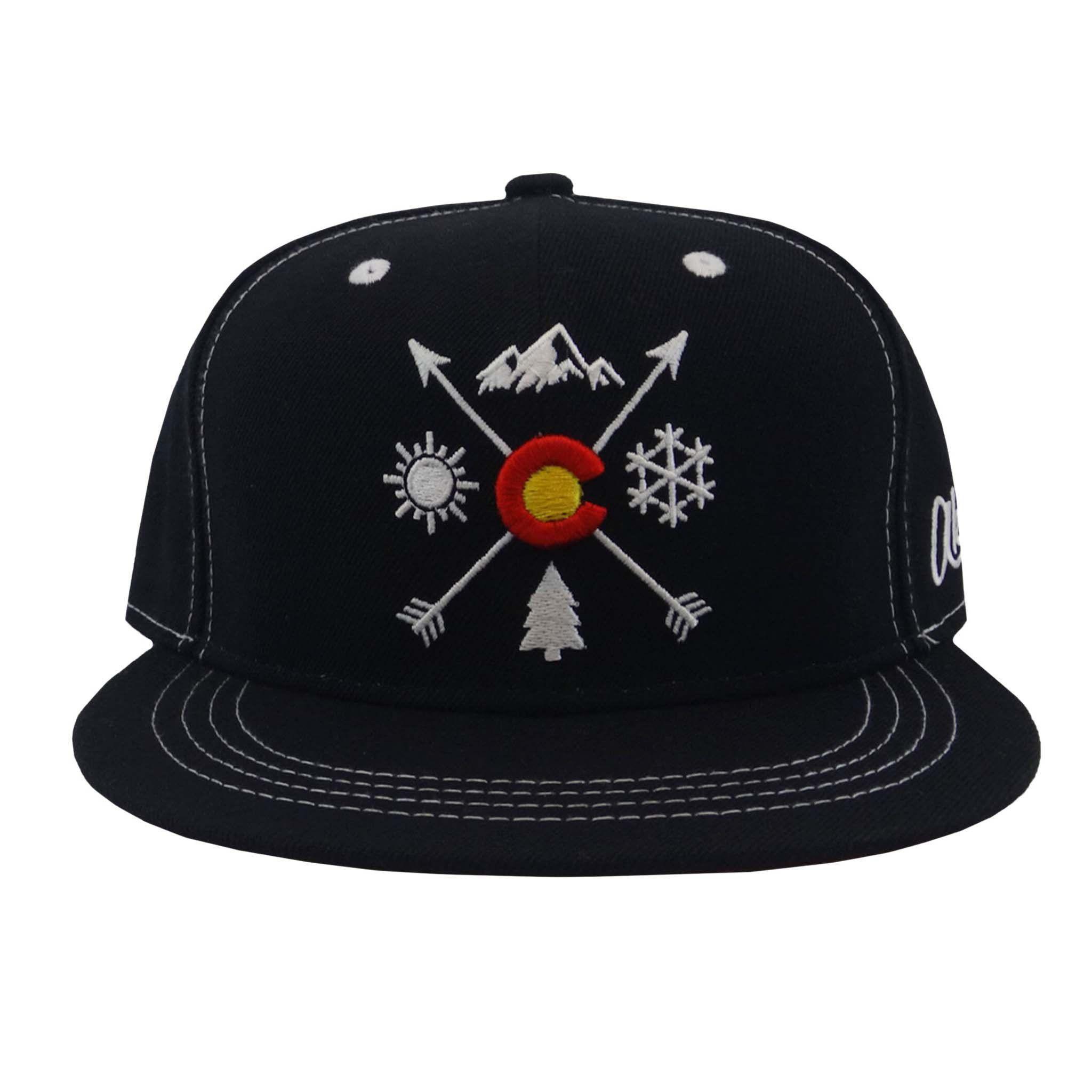 2edabdf15d3 Colorado Arrows Flat Bill Snapback Hat - Black