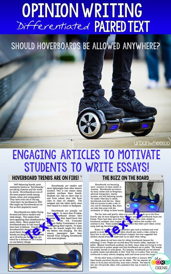 Engaging articles to motivate kids to write.