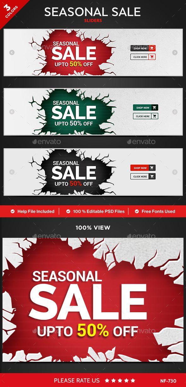 Seasonal Sale Sliders 3 Colors (With images) Sliders