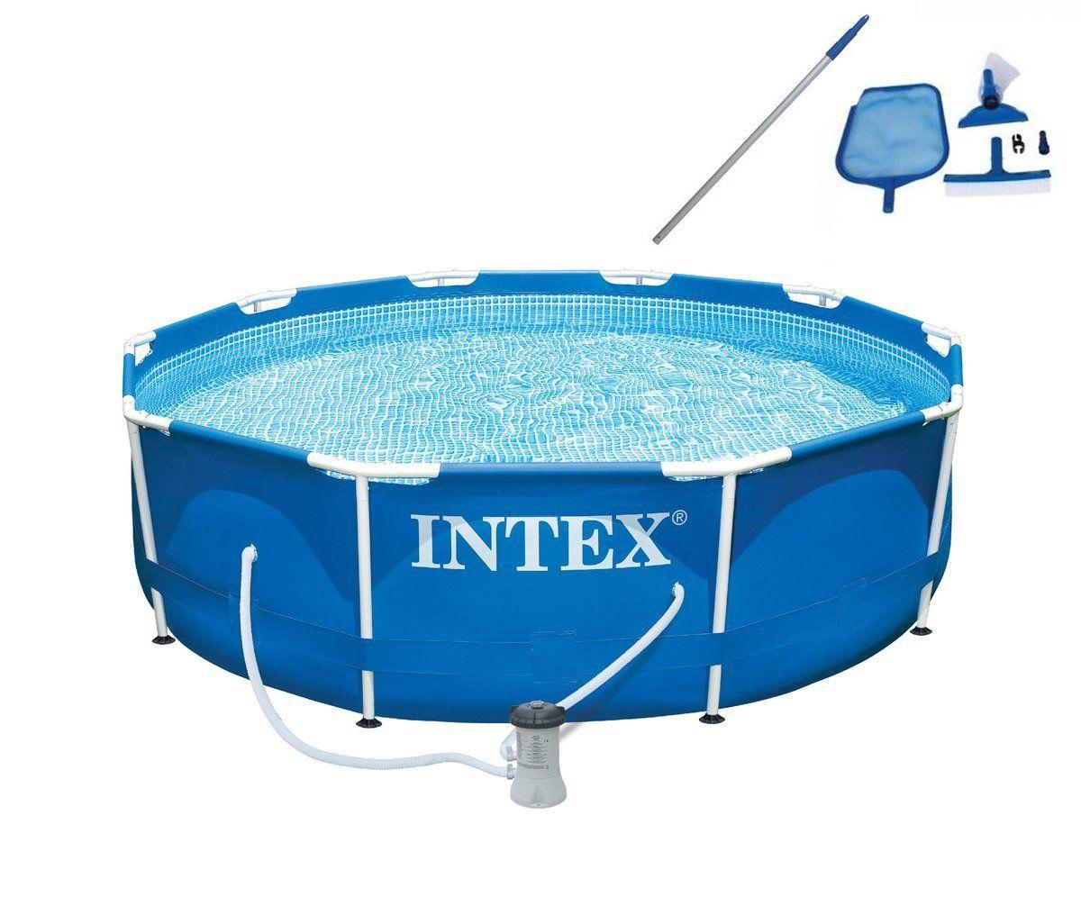 Intex 10 X 30 Metal Frame Set Swimming Pool With Filter Pump