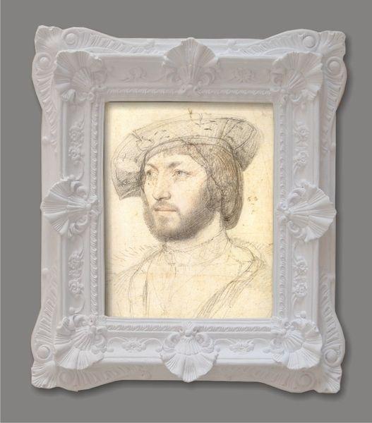 Cuadro retrato III, del pintor Francois Clouet. 55x47cm - Decorar con Arte