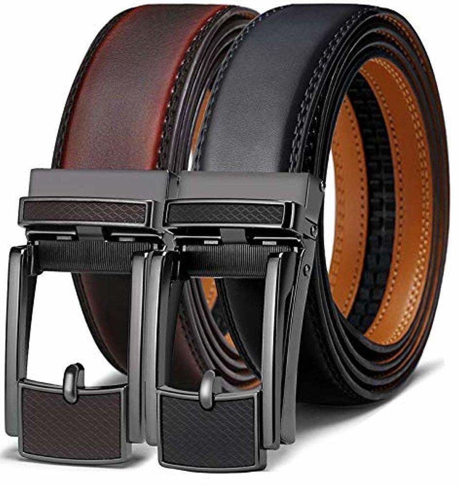 Men's Belt Bulliant Leather Ratchet Belt for Men Dress with