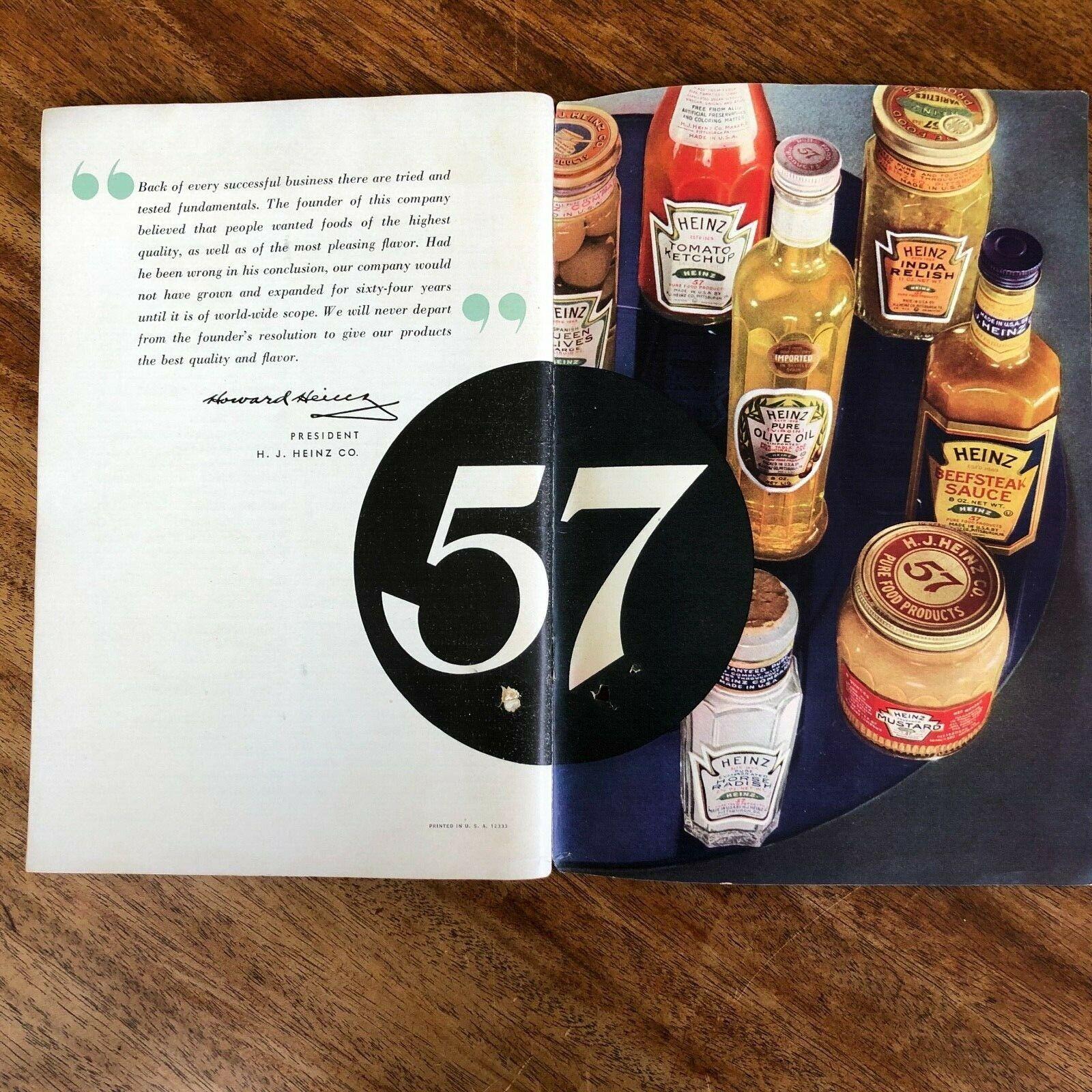 Heinz Salad Book Advertising Recipes Brochure 1940s Vintage H J Heinz Company In 2020 Book Advertising Ebay Vintage