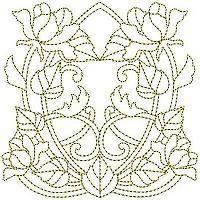 OregonPatchWorks.com - Sets - Goldwork Art Noveau