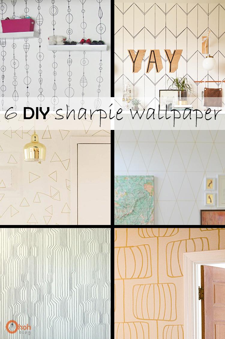 Diy Monday Sharpie Wallpaper Ohoh Deco Decor Home Decor Diy Wallpaper