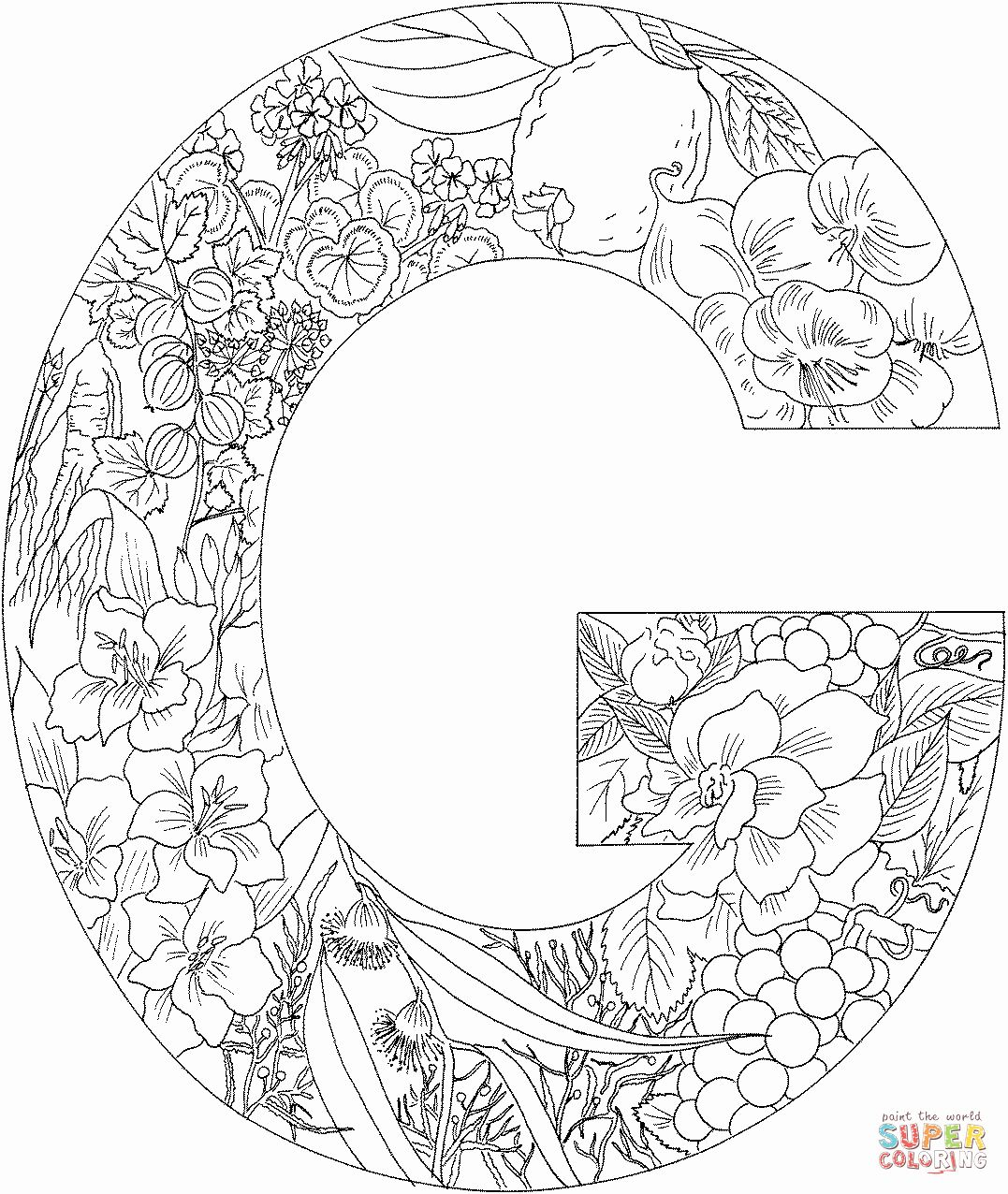 Printable Letters Coloring Sheets Elegant Letter G Coloring Pages