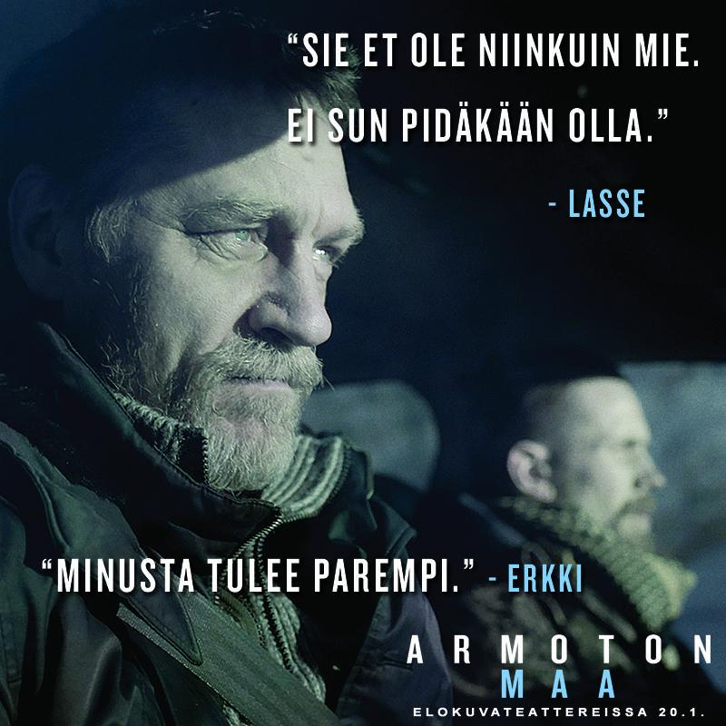 Mitä isä voikaan opettaa pojalleen..?  ARMOTON MAA elokuvateattereissa 20.1.         @nordiskfilmfinland