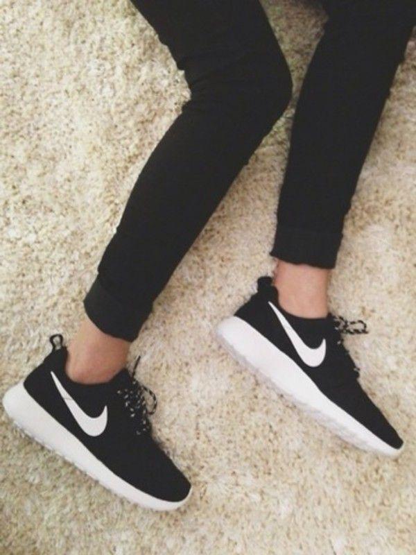 Nike S H Shoes Run Black Women's Running O Roshe E rg47w1qr