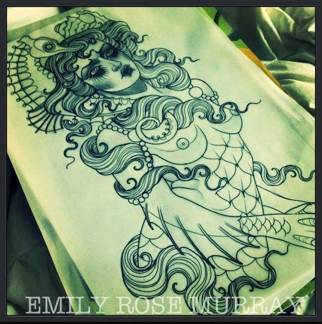 Tattoo Artwork by Emily Rose Murray | DRAWINGS | Tattoo drawings, Emily rose, Tattoo sketches