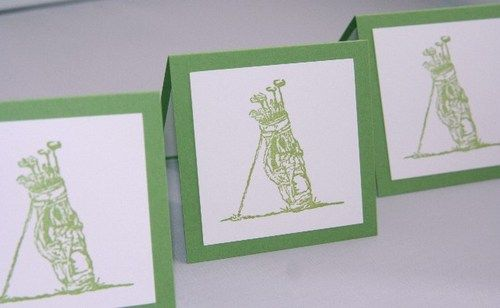 All Occasion Golf Bag Mini Gift Card Set of Three | Laurascrafts - Paper/Books on ArtFire