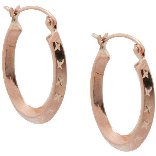 Gioelli 14K Rose Gold Diamond-cut U Hoop Earrings (47.580 CLP) ❤ liked on Polyvore featuring jewelry, earrings, gold, rose gold earrings, rose gold hoop earrings, long earrings, hoop earrings and 14k diamond earrings