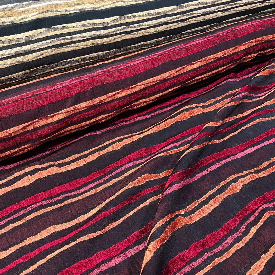 Zed Is Brand New Striking Striped Material That Is Available In A Classic Black Or Rich Pink Tone This Polye Buy Fabric Online Buy Fabric Fabric Stores Online