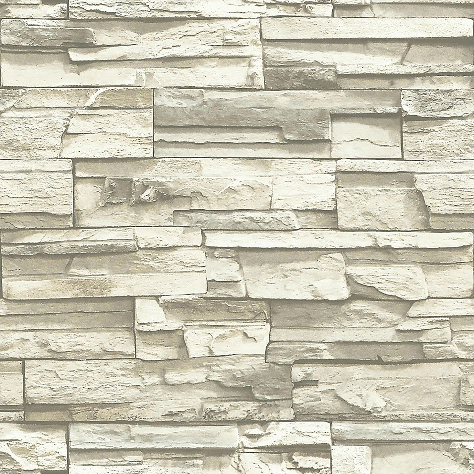 """Elementem Photography Roommates """"stacked Stone"""" Peel & Stick Wall Décor In Grey"""