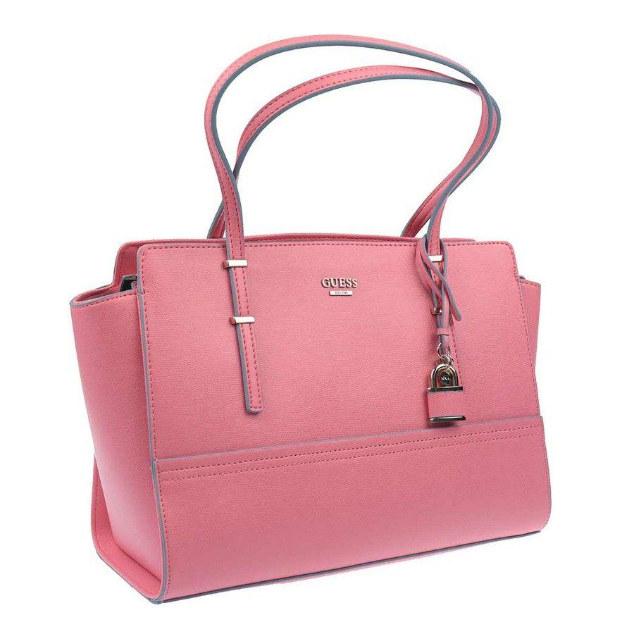 Dámská stylová kabelka ve světle růžové barvě značky Guess ...