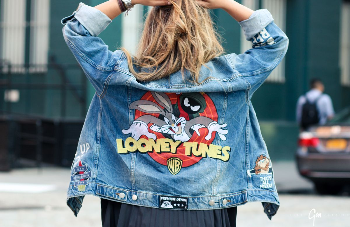 Zara jeansjacke looney tunes