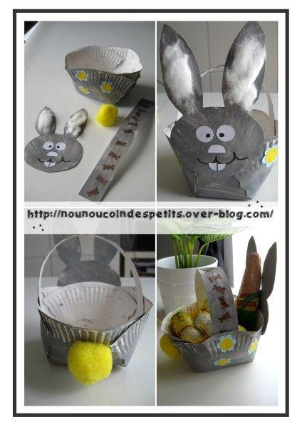 Panier de paques lapin brico enfants pinterest easter easter crafts and craft - Panier de paques a fabriquer ...