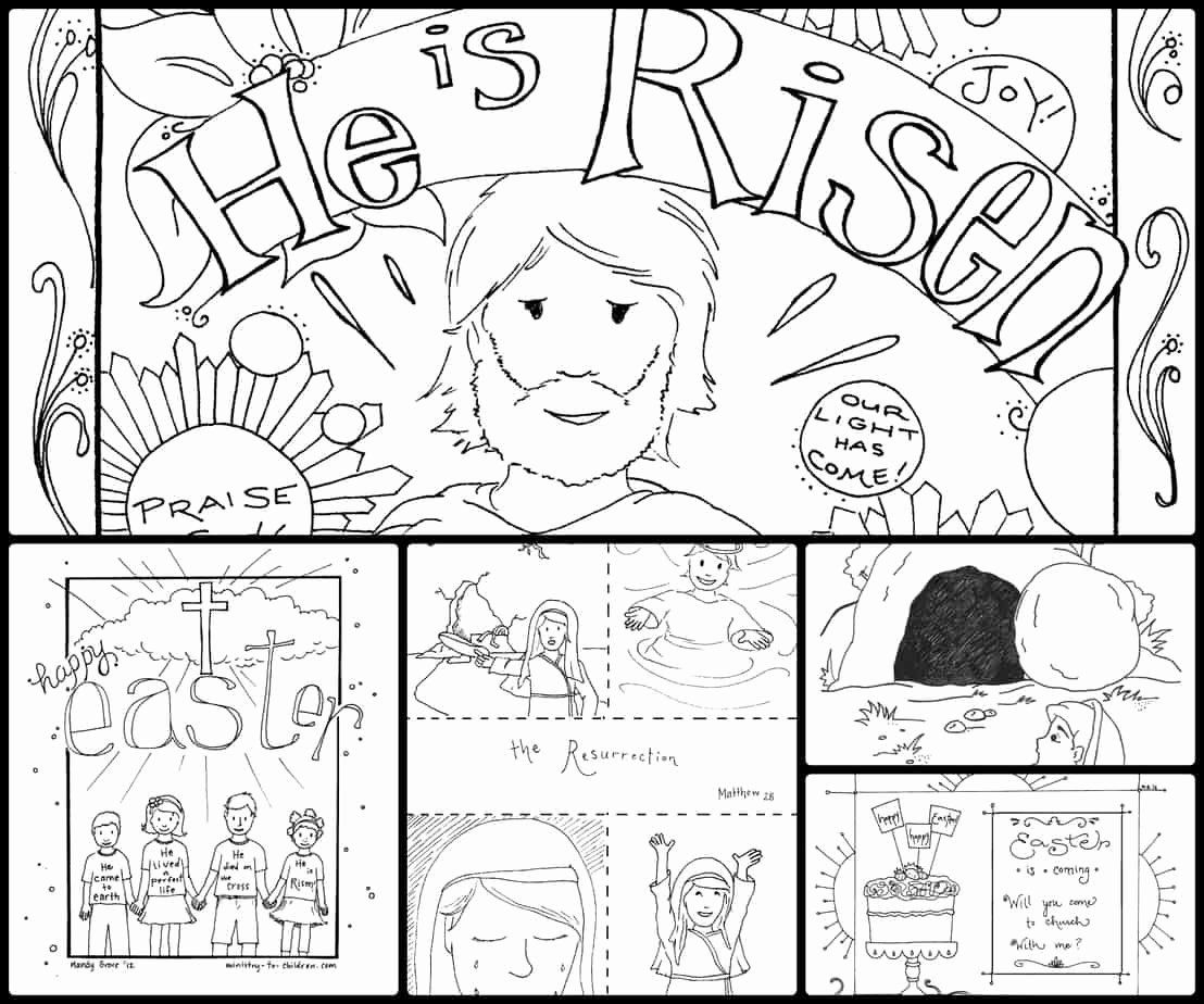 Easter Story Coloring Pages Di 2020