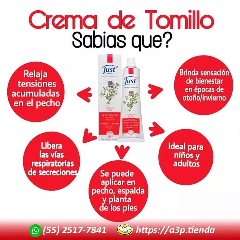 Crema De Tomillo Just 96g Producto Original Envío Gratis 665 00 Tienda A3p Productos Para La Salud Recetas De Aceites Esenciales Cuidados Para El Cuerpo