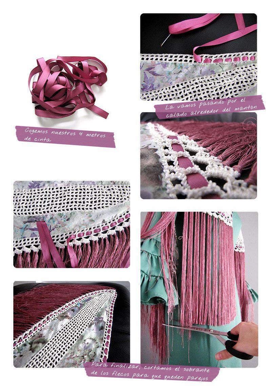 Mantoncillo De Flamenca Diy Tutorial Para Hacerlo Tu Misma Disfraz De Flamenco Falda Casera Patrones De Confección De Ropa